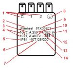 Inscriptions normalisées sur un thermostat