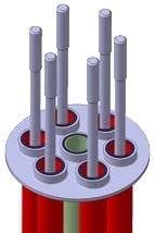 Base pratique des raccords inox orientables JPC pour thermoplongeurs