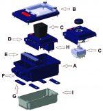 Synoptique d'assemblage de la gamme de boitiers JPC type Y6, Y7 et Y8